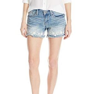 Lucky Brand | Floral Embroidered Cut Off Shorts